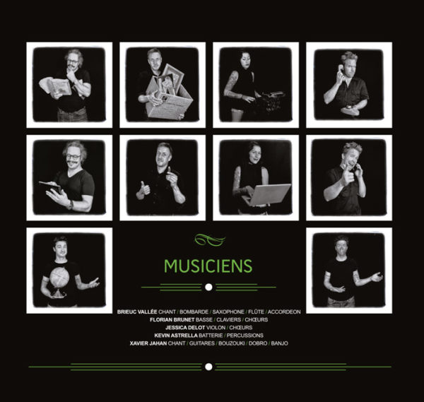 Kervegan's, album Bienvenue Demain (Musiciens)